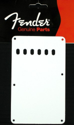 Fender Strat Back Plate 1 Ply White Tremolo Cover 0991320000