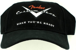 Fender Custom Shop Baseball Hat Stretch Cap Black S/M