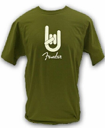 Fender ROCK ON TEE  GRN  XXL 9101001846