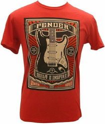 Fender BUILT 2 INSP T RED, L   9110009509
