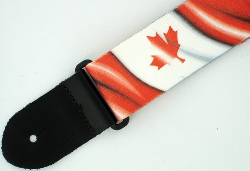 Canada Flag Maple Leaf Poly Guitar Strap