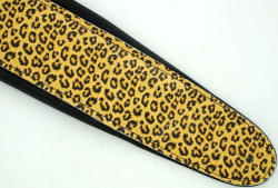 Deluxe Leopard Print Padded Soft Leather Guitar Strap