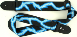"Perri's 2"" Poly Guitar Strap Blue Lightning LPCP-46"