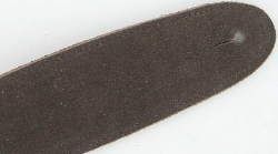 "Brushed Suede Brown Leather Guitar Strap 50"" Long New"